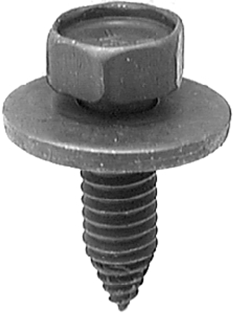 "5/16""-18 x 1"" Ford & GM 7/8"" Sems Washer Sheet Metal Hex Head Screws Black Phosphate 25 Per Box Click Next Images For Body Bolt Spec Charts"