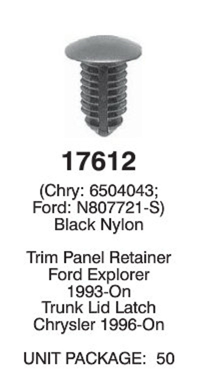 50 Trim Panel Clips Compatible with Ford /& Chrysler  N807721-S 6504043