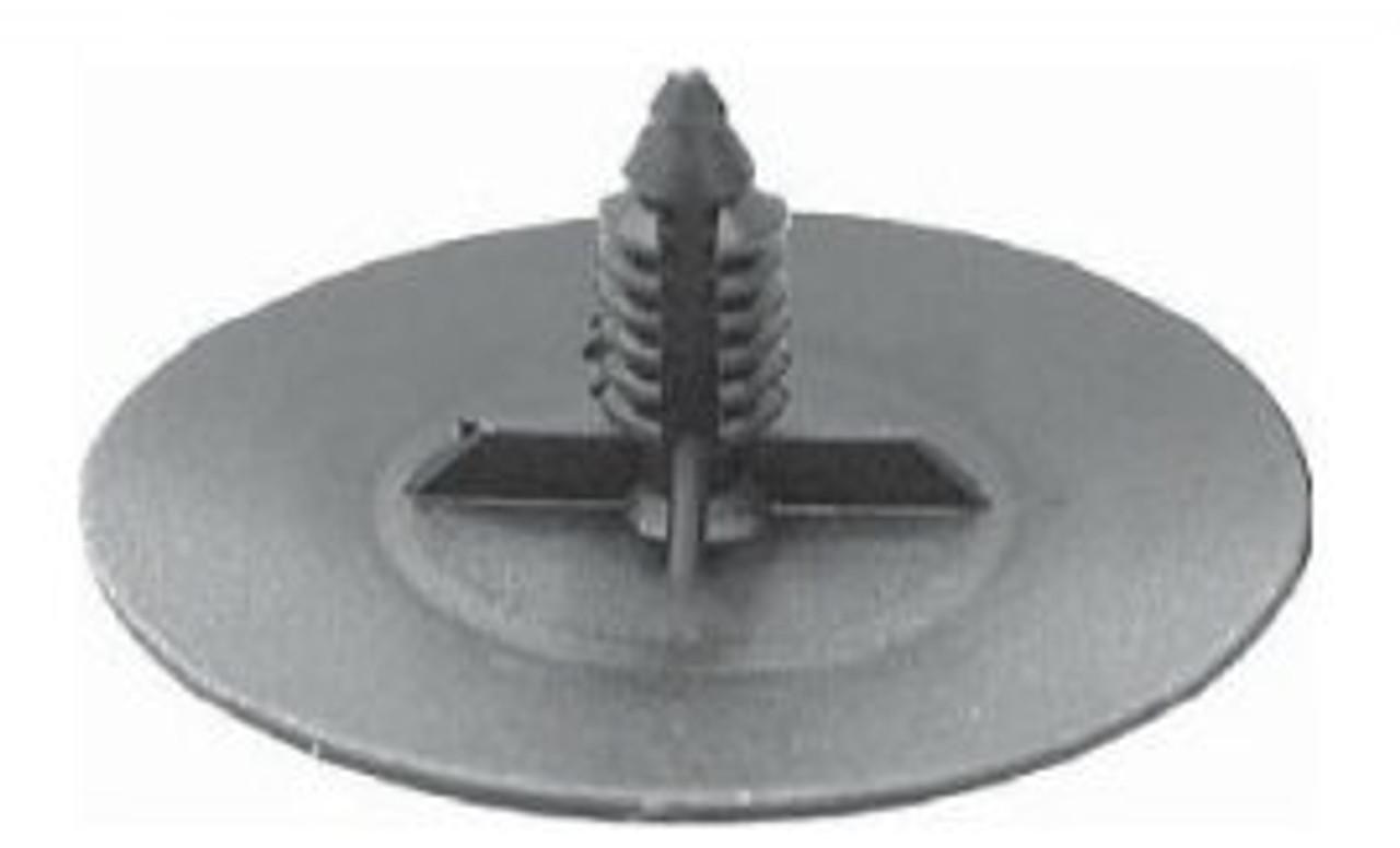 "Hood Insulation Retainer Head Diameter: 2"" Stem Diameter: 5/16"" Stem Length: 3/4"" OEM# 3078511, 3977775 Black Nylon 25 Per box Click next Image For Clip Detail"