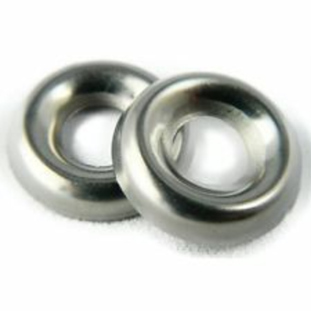"""Countersunk Type Washer Screw Size: #4 I.D. 9/64"""" O.D. 3/8"""" Nickel Plated Brass 100 Per Box Click Next Image For Washer Size Chart"""