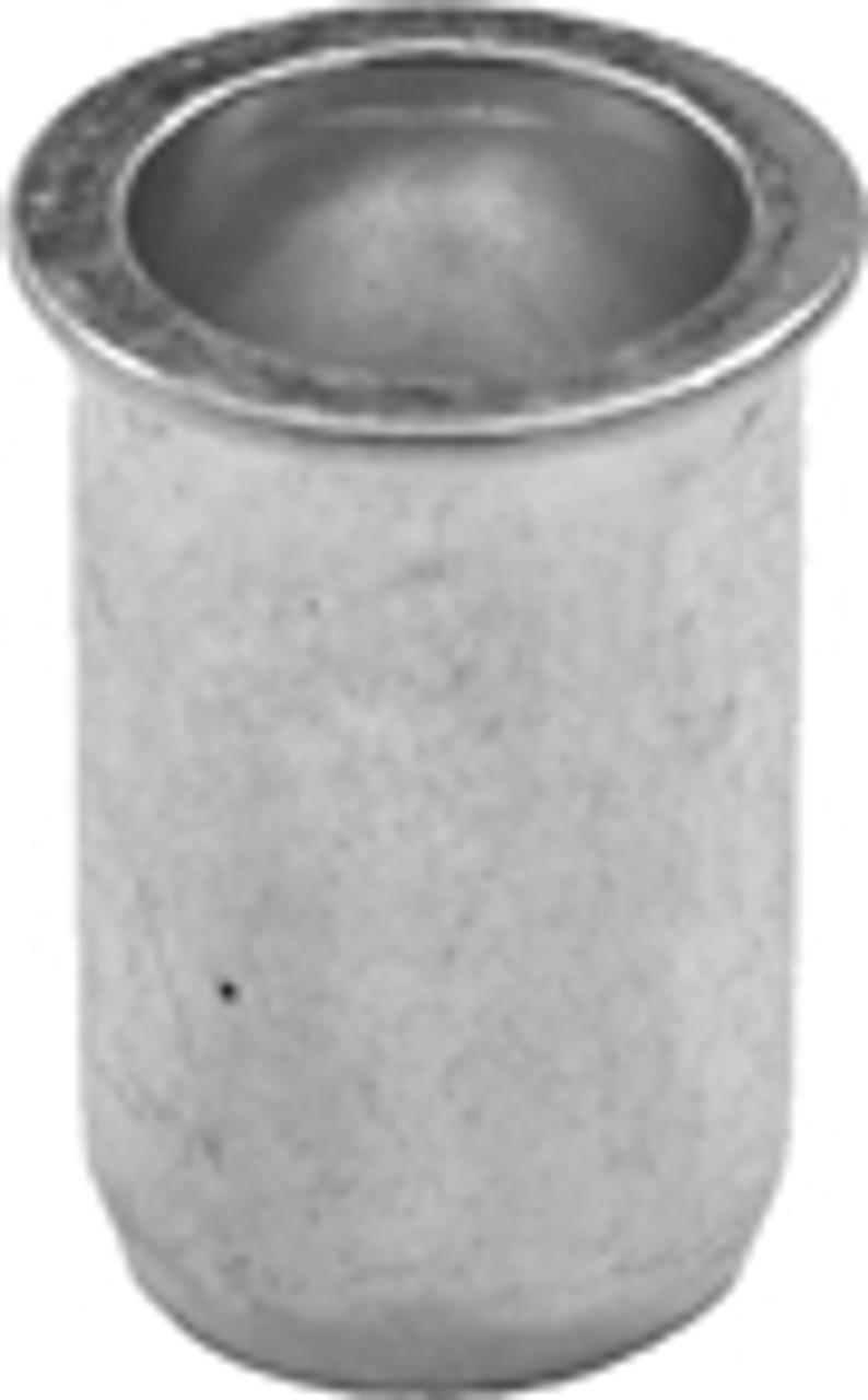 "Steel Thin Sheet Nutserts 8 -32 U.S.S. Range: .02"" - .080"" Drill Size: 1/4"" Zinc 50 Per Box Click Next Image For Nutsert Size Chart"