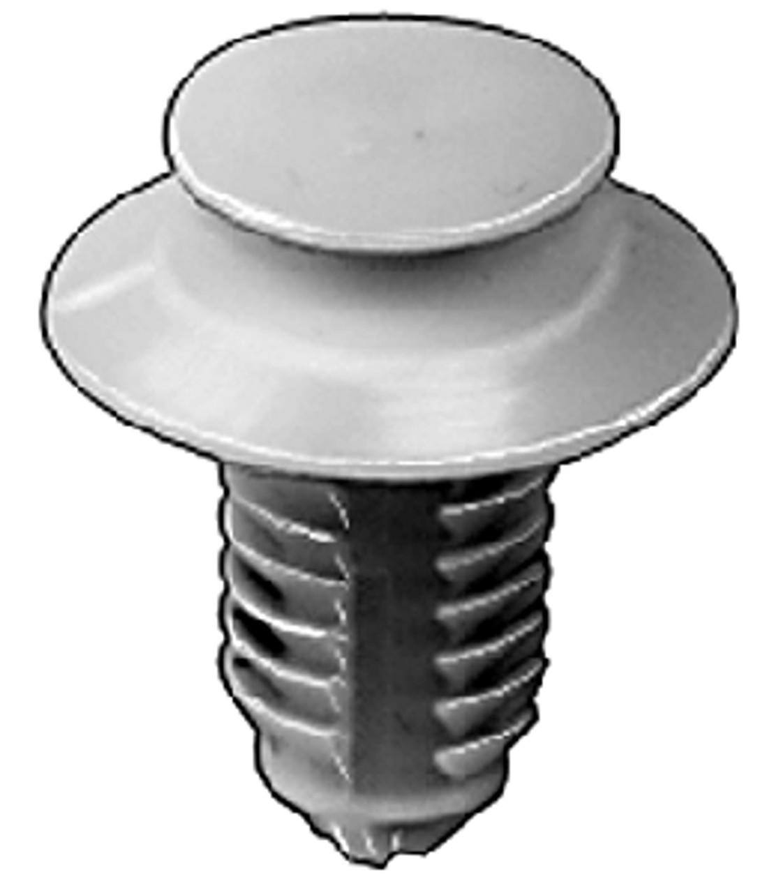 "Door Trim Panel Retainer Small Head Diameter: 1/2"" Stem Diameter: 3/8"" Stem Length: 11/16"" Ford Windstar 1995 - On OEM#: F58Z-16237A02-A Yellow Nylon 25 Per Box"