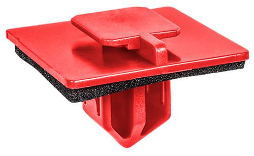 Rocker moulding Clip With Sealer Red Nylon Top Head Size: 11mm x 13mm Bottom Head Size: 25mm x 25mm Stem Length: 14mm Lexus LX470 OEM# 90467-12072 25 Per Box