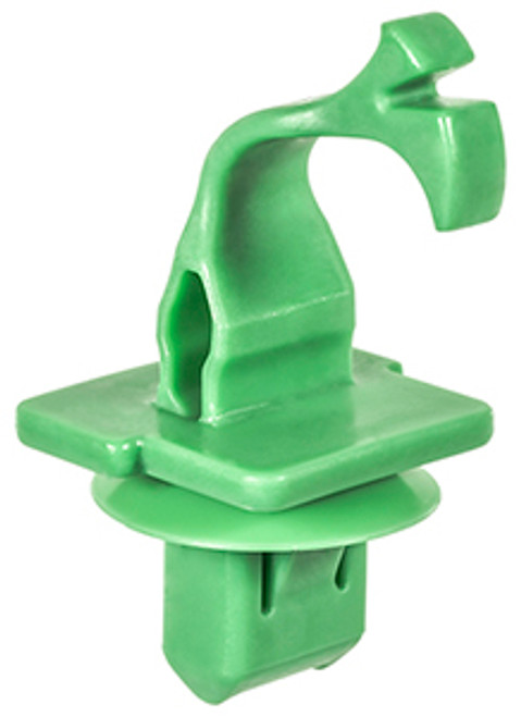 Windsheild Garnish Moulding Clip Green Nylon Overall Length: 44mm Fits Into 7mm x 12mm Hole Nissan Altima, Juke & Sentra 2011 - On OEM# 76988-3DN0A 10 Per Box
