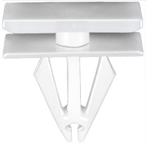 Wheel Opening & Rocker Moulding Clip White Nylon Top Head Size: 12mm x 20mm Bottom Head Size: 12mm x 20mm Stem Length: 14mm Fits Into 9mm Hole Ford Escape & Lincoln MKC 2013 - On Ford OEM# W716351-S300 25 Per Box