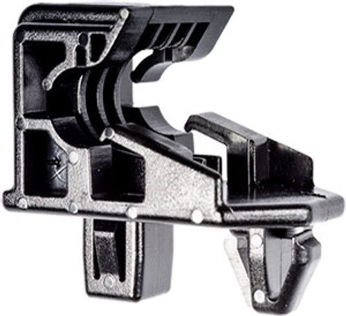 Headlight Bracket Clip Width: 25mm Length: 39mm Overall Height: 33mm Lexus GX460, GX470, RX 300, RX 330 & RX 350 Toyota Corolla, Echo, Highlander, MR2 Prius, Tacoma, Tercel & 4 Runner 1993 - On Toyota OEM# 53271-12040; 53271-12060; 53271-0B010 Black Nylon 10 Per Box