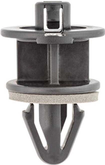 Front Fender Retainer With Sealer Top Head Diameter: 20mm Bottom Head Diameter: 18mm Black Nylon Stem Diameter: 12mm Stem Length: 15mm Overall Height 31.5mm Toyota Highlander 2015 - On Toyota OEM# 53857-0E010 10 Per Box