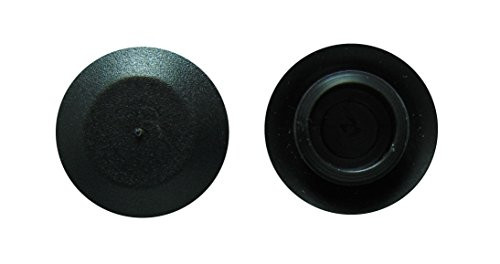 "Hole Size 1/2"" Flush Type Polyethylene Sheet Metal Plugs Black 100 Per Box"