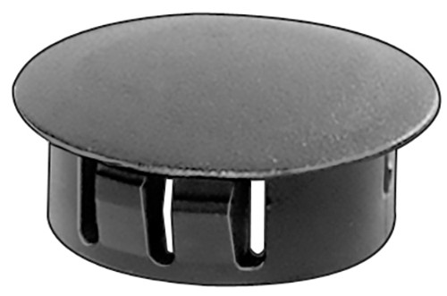 "Hole Diameter: 3/8"" Pane Thickness: 1/8"" Head Diameter: 15/32"" Locking Hole Plugs Black Nylon 50 Per Box See Next Image For Plug Size Chart"