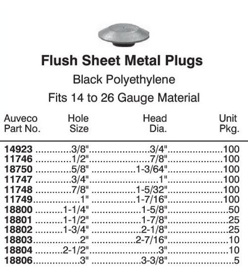 "11748 Flush Plastic Hole Plug - 7/8"" Hole"