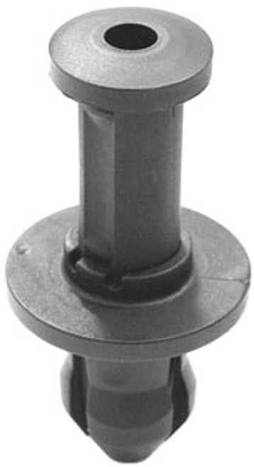 Radiator Grille Push-Type Retainer Head Diameter: 20mm Stem Length: 16mm Fits into 10mm Hole Black Nylon Dodge Durango 2004 - On Chrysler OEM# 6507669-AA 25 Per Box