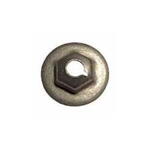 "Washer Lock Nuts  #10-24 Outer Diameter: 1/2"" Hex: 3/8"" Washer Lock Nuts Zinc Works great with Universal Molding Fasteners Also known as ""Speed Nuts"" 100 per box"