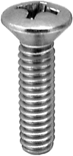 "#10-32 x 1"" Phillips Oval Head Machine Screws Chrome 100 Per Box"