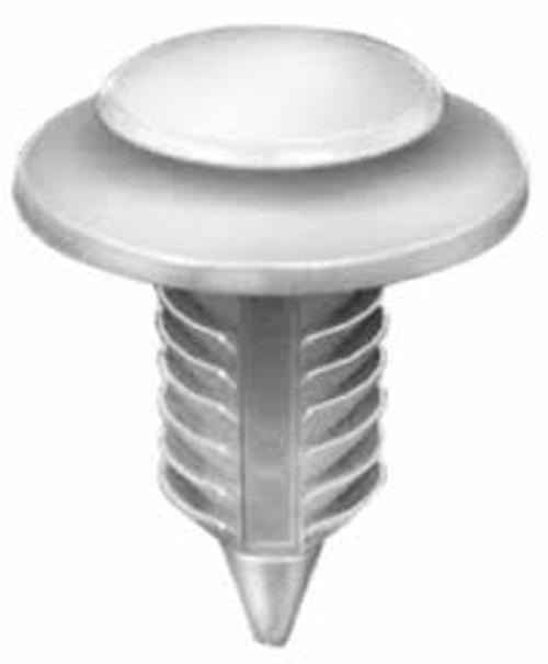 "Trim Panel Retainer Small Head Diameter: 1/2"" Large Head Diameter:3/4"" Dodge Ram 1994 - On Natural Nylon OEM #6503709 50 Per Box"