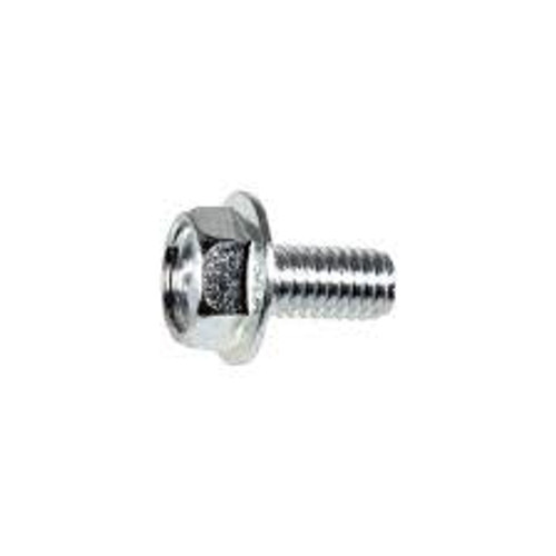 Acura Hex Flange License Plate Screw M6-1.0 x 12mm Hex: 10mm Flange Outer Diameter: 14mm Zinc Class 10.9 50 Per Box