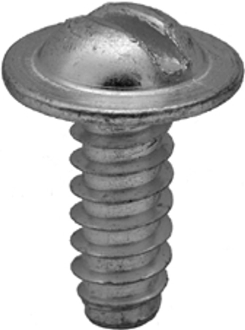 "Slotted Round Washer Head License Plate Screw 1/4"" x 5/8"" Washer Head Outer Diameter: 9/16"" Use With Auveco Nut #8249 100 Per Box"