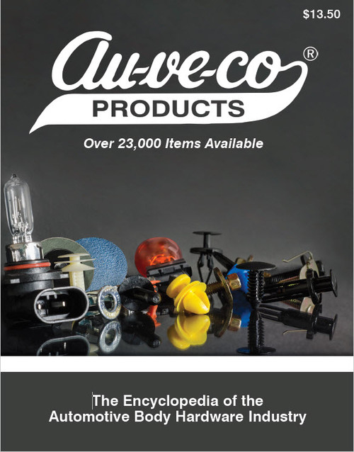 "The new Auveco Master Catalog containing over 20,000 items in 800+ pages is now available in print. This latest edition contains the ""World's Largest Selection of Automotive Body Hardware and Specialty Fasteners"" for servicing the Automotive, PBE, Industrial and MRO markets. The catalog is considered The Encyclopedia Of The Automotive Body Hardware Industry.  Numerous improvements were incorporated to make the catalog as easy as possible to use which resulted in key features such as:  Actual Size Pictures for quick, accurate identification of items Complete Descriptions, Dimensions and Specifications Technical Charts for Retainers, Push-Type Retainers, Tapping Screws, Body Bolts & License Plate Screws Application Information Color Coded Pages For Quick Location of the Various Sections OEM Manufacturer Part Number cross reference guide included for easy identification."