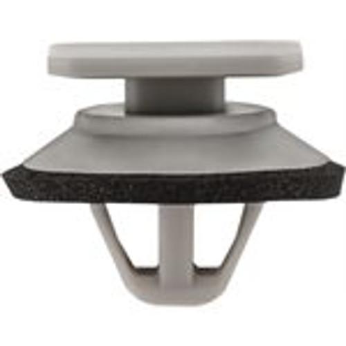 Description : Stone Guard Moulding Clip with Sealer Material : Nylon Color : Gray Type : Moulding Clip with Sealer Stem Diameter : 12MM Stem Length : 9MM Top Head Size : 10MM x 15MM Bottom Head Diameter : 18MM Mazda OEM# KD53-51-SJ3A 25 Per Box