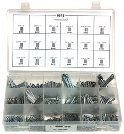 Cotter Pins Quick-Select Assortment Kit 570 Pieces