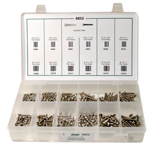 Stainless Steel Tapping Screws Quick-Select Assortment Kit 216 Pieces Click Next Image For Screw Specs