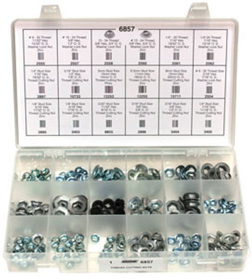 Thread Cutting Nuts Quick-Select Assortment Kit 18 Varieties - 227 Pieces Click Next Image For Size Chart