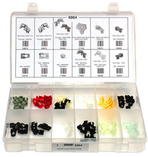 Door Lock Rod Clips Quick-Select Assortment Kit 59 Pieces