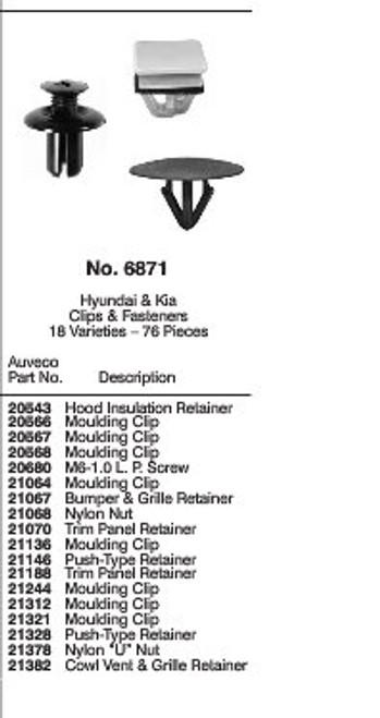 Hyundai & Kia Clips & Fasteners Quick Select Kit