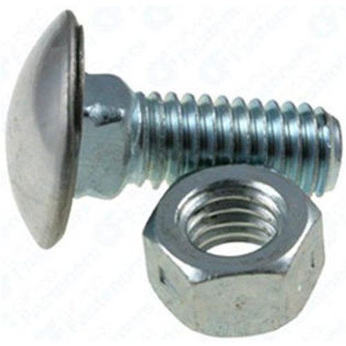 "7/16""-14 x 1-1/2"" Stainless Steel Cap Round Head Bumper Bolts with Hex Nuts Zinc 10 Per Box Click Next Image For Bumper Bolt Spec Chart"