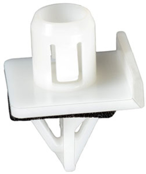 Moulding Clip With Sealer Head Size: 21.5mm x 24mm Stem Diameter: 14.5mm Stem Length: 17mm Subaru Forester 2001-2002 OEM# 91059-FC110 White Nylon 25 Per Box Click Next image For Clip Detail