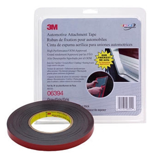 "3M 6394 1/2"" x 10 yard roll Double Sided Tape Grey 90 mil Thick"