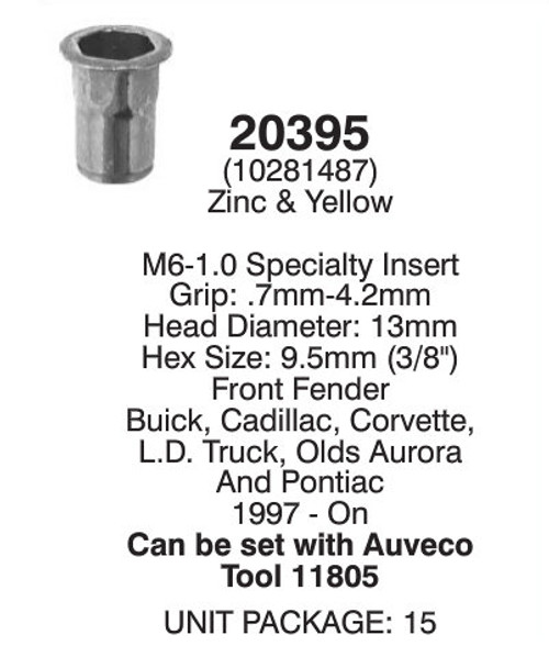 Auveco 20395 Detail *Note Correct Tool Is #16341