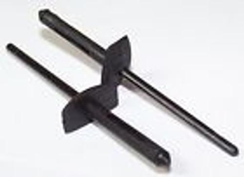 Ford Aerostar Diameter: 4mm Cowl Vent Grille Retaining Rivets Black Nylon OEM# N804583S 25 Per Box NOTE: MUST USE AUVECO #13756 OR #14155 RIVET GUN TO INSTALL NYLON RIVETS