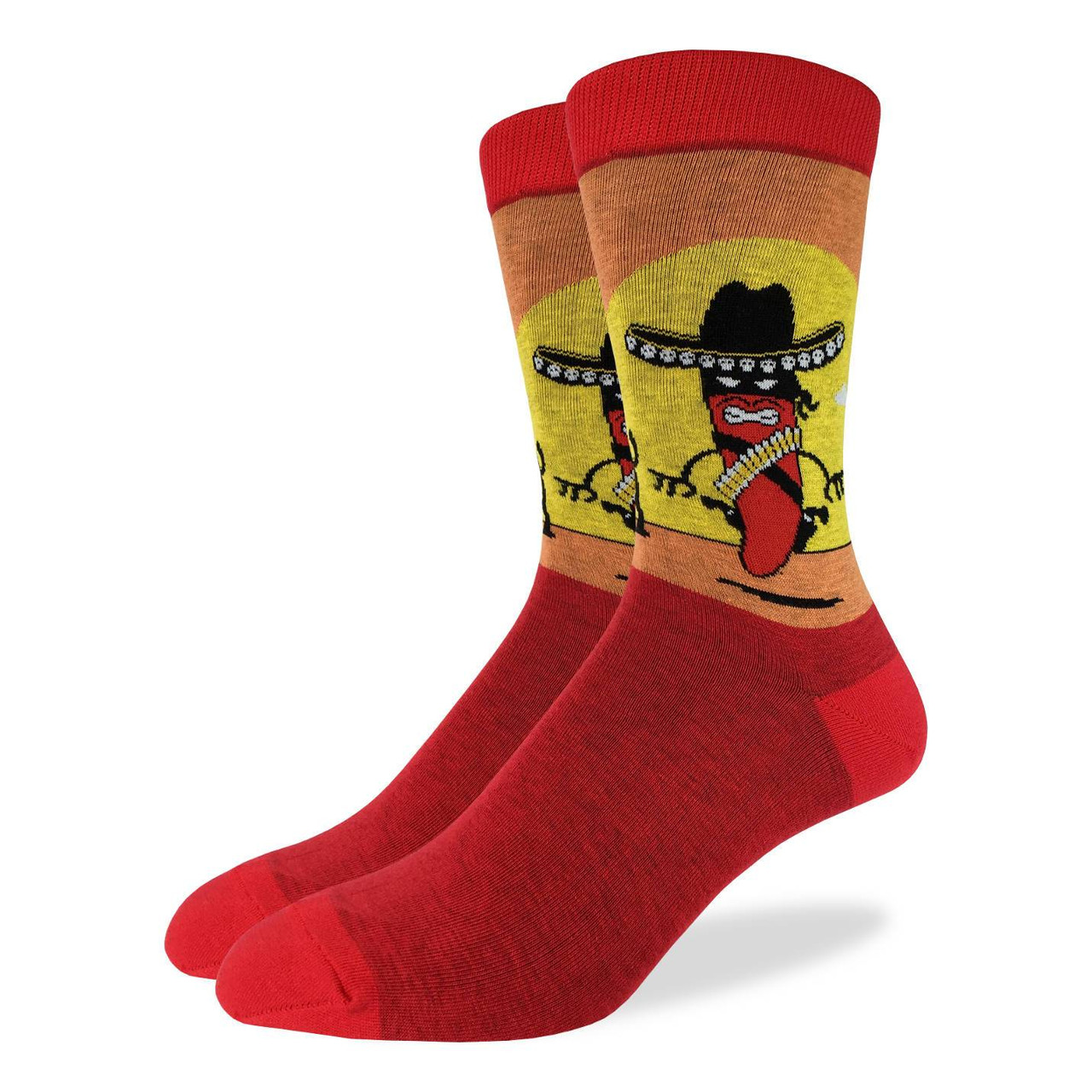 Adult Shoe Size 5-9 Good Luck Sock Womens Flying Insects Socks Red