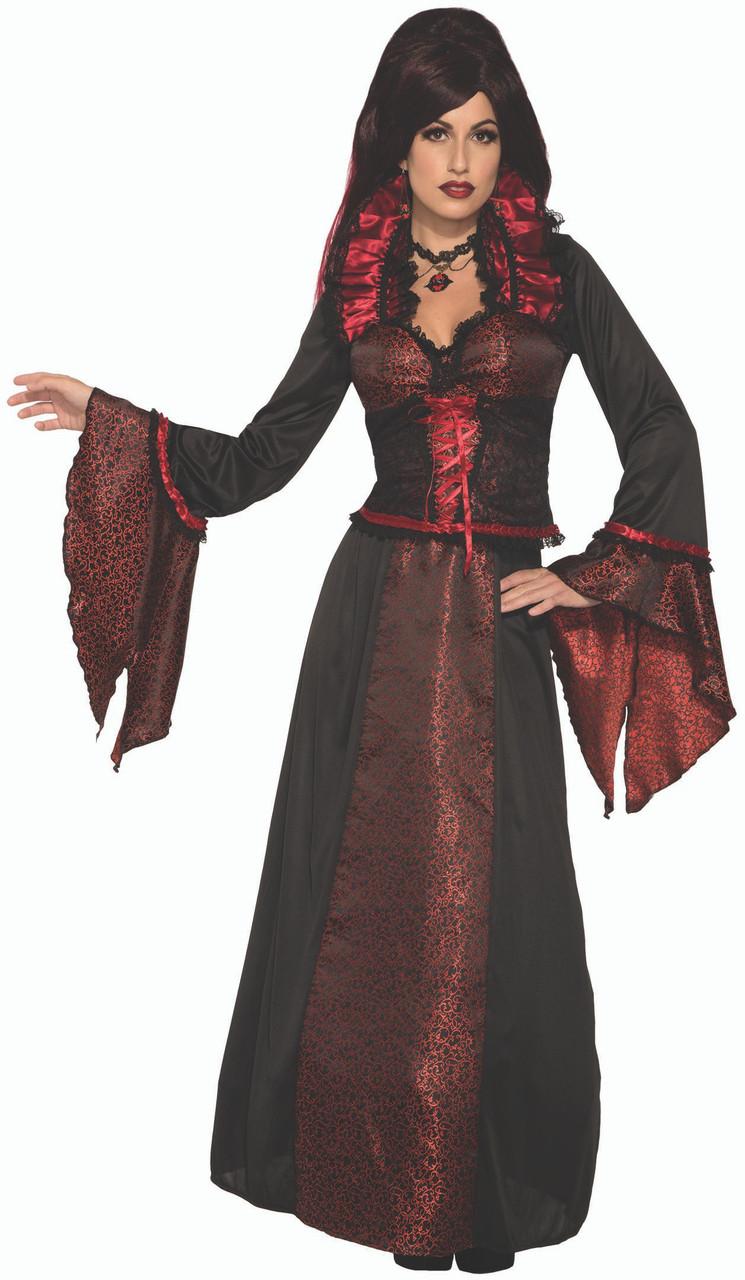 Halloween Vampires Costume Womens Adult new Dress Ladies Gown S M