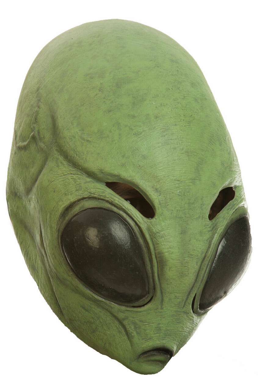 Alien UFO Roswell Area 51 Space Invader Martian Costume Mask Grey Gray Purple