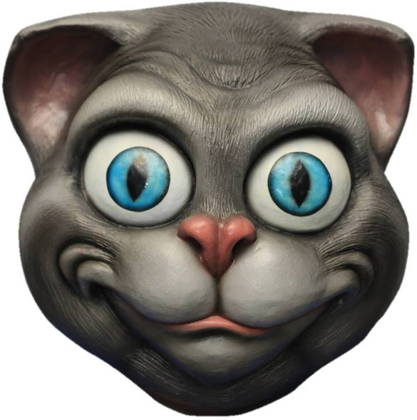 Grey Cat Adult Latex Mask Stoned Vivid Cartoon Anime Cosplay Costume Accessory