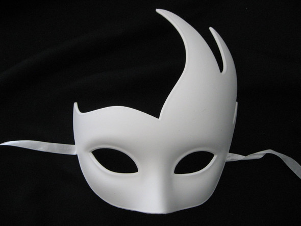 Paint Create Decorate Venetian Wing White Mask Mardi Gras Costume Crafts Swan