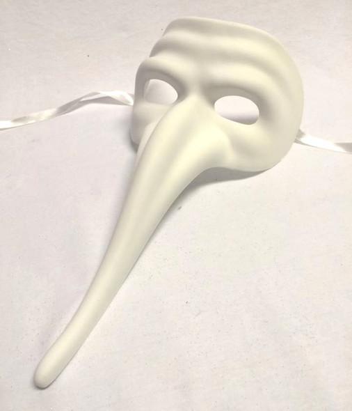 """Paint Your Own Venetian Mask Casanova 10"""" Curved Nose Papier Mache Crafts DIY"""