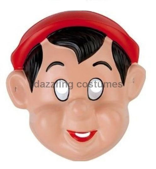 Pinocchio Mask Disney Boy Pvc Child Party Favour Toy Child Costume Accessory New