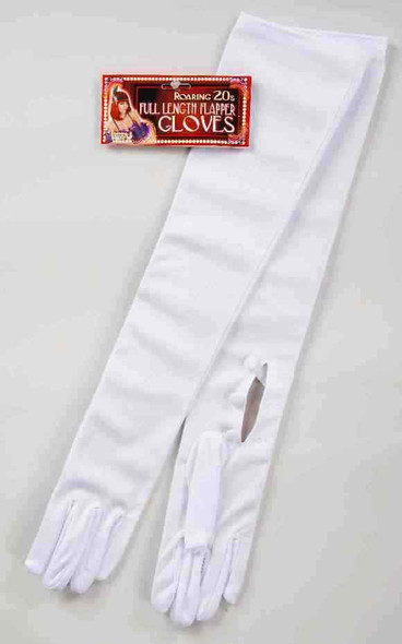 """White Opera Length Gloves Evening 20"""" Long Adult Women Costume Accessory Prom"""