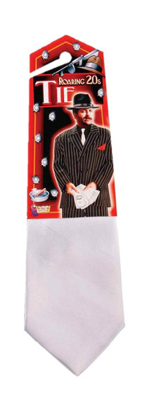 Roaring 20's Classic White 1920's Gangster Tie Mob Mobster Costume Accessory New