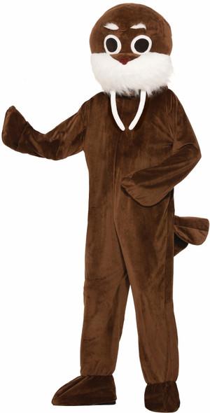 Brown Walrus Adult Unisex Costume Mascot Seal Marine Mammal Animal Standard Size