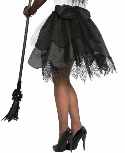 Witches and Wizards Witch Black Bustle Skirt Adult Women Costume Accessory
