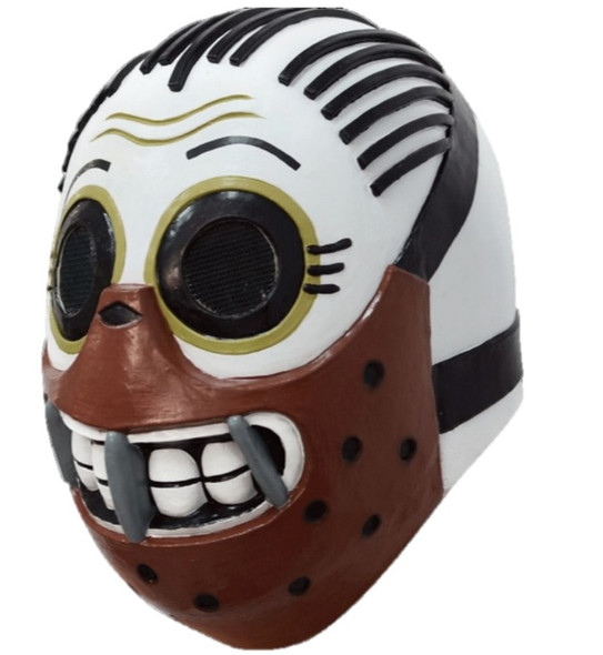 Calaveritas Sugar Skull Skelee Silence Mask Cannibal Wrestler Evil Adult Latex