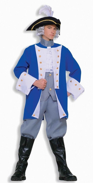 Colonial General Historical Character Costume Adult Std Town Crier Re-enactment