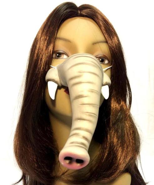 Cute Creatures Grey Elephant Nose Rubber Vinyl Animal Circus Costume Accessory