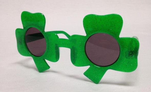 St. Patrick's Green Shamrock Costume Sunglasses Adult Standard Size Lucky Irish