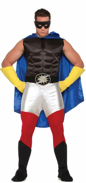 Super Hero Metallic Silver Mini Booty Shorts Adult Comic Books Costume Accessory