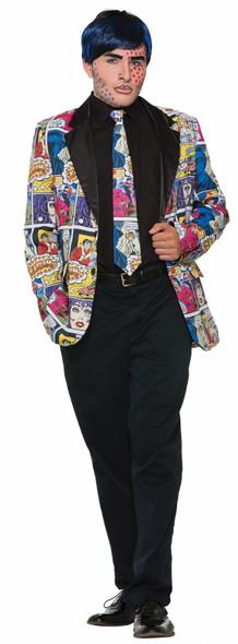 Fun Pop Art Adult Neck Tie Cartoon Boom Zoom Cosplay Costume Accessory