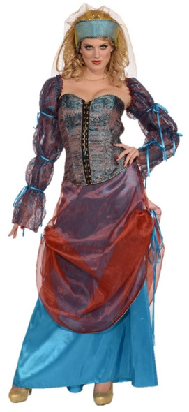 Forum Novelties Medieval Courtesan Adult Womens Costume Small 2-6 Gypsy Wench
